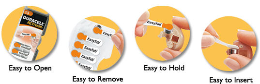 Easy To Use Low Cost Hearing Aid Batteries - Duracell Activair