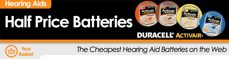 Duracell Activair Half Price Batteries